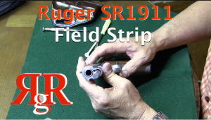This video shows how to field strip the Ruger SR1911. In this video I am field stripping the Commander - shorter barrel version of the Government SR1911. The SR1911 field strips identically to the Colt 1911.