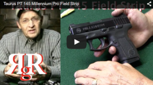 This is a video on how to field strip the Taurus PT 145 Millennium Pro; the discontinued in 2013 compact conceal carry .45 caliber by Taurus.